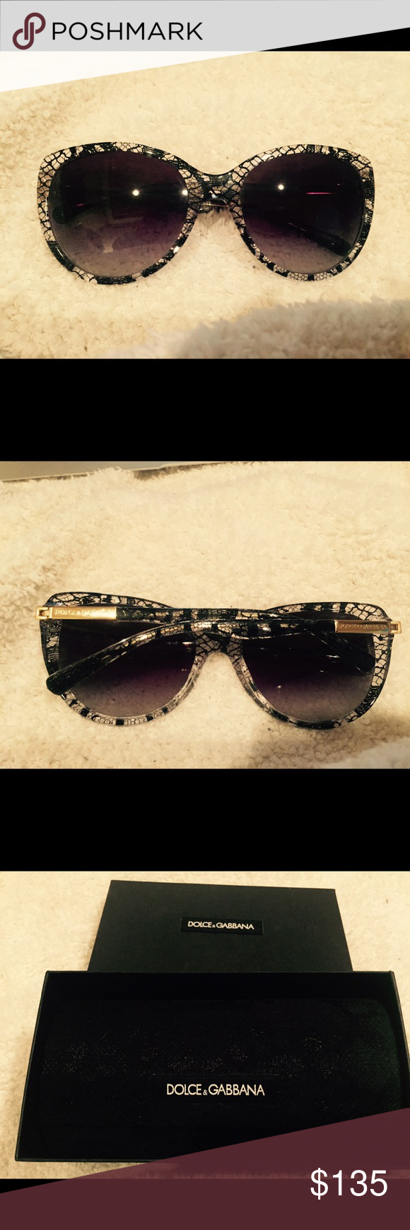 Dolce + Gabbana sunglasses in pristine condition Dolce and Cabanna sunglasses in pristine condition in a clear and black very cool looking  plastic frame with original box and sunglass holder Dolce & Gabbana Accessories Sunglasses