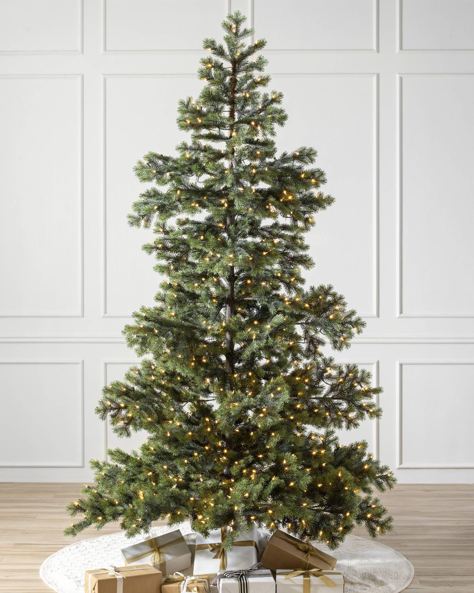 Yukon Spruce Artificial Christmas Tree Balsam Hill Realistic Artificial Christmas Trees Pre Lit Christmas Tree Realistic Christmas Trees