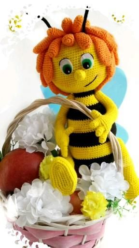 Maya the bee crochet pattern. Bee amigurumi patter