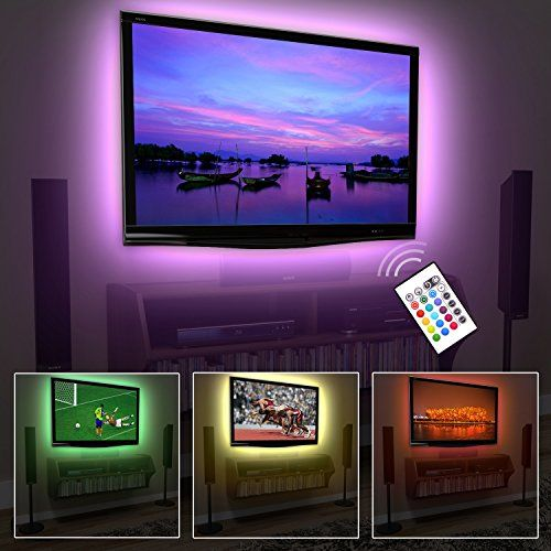 nice Megulla Bias TV Lighting Kit Accent/Ambient TV Lighting Precut USB LED RGB Strip  sc 1 st  Pinterest & nice Megulla Bias TV Lighting Kit Accent/Ambient TV Lighting Precut ...