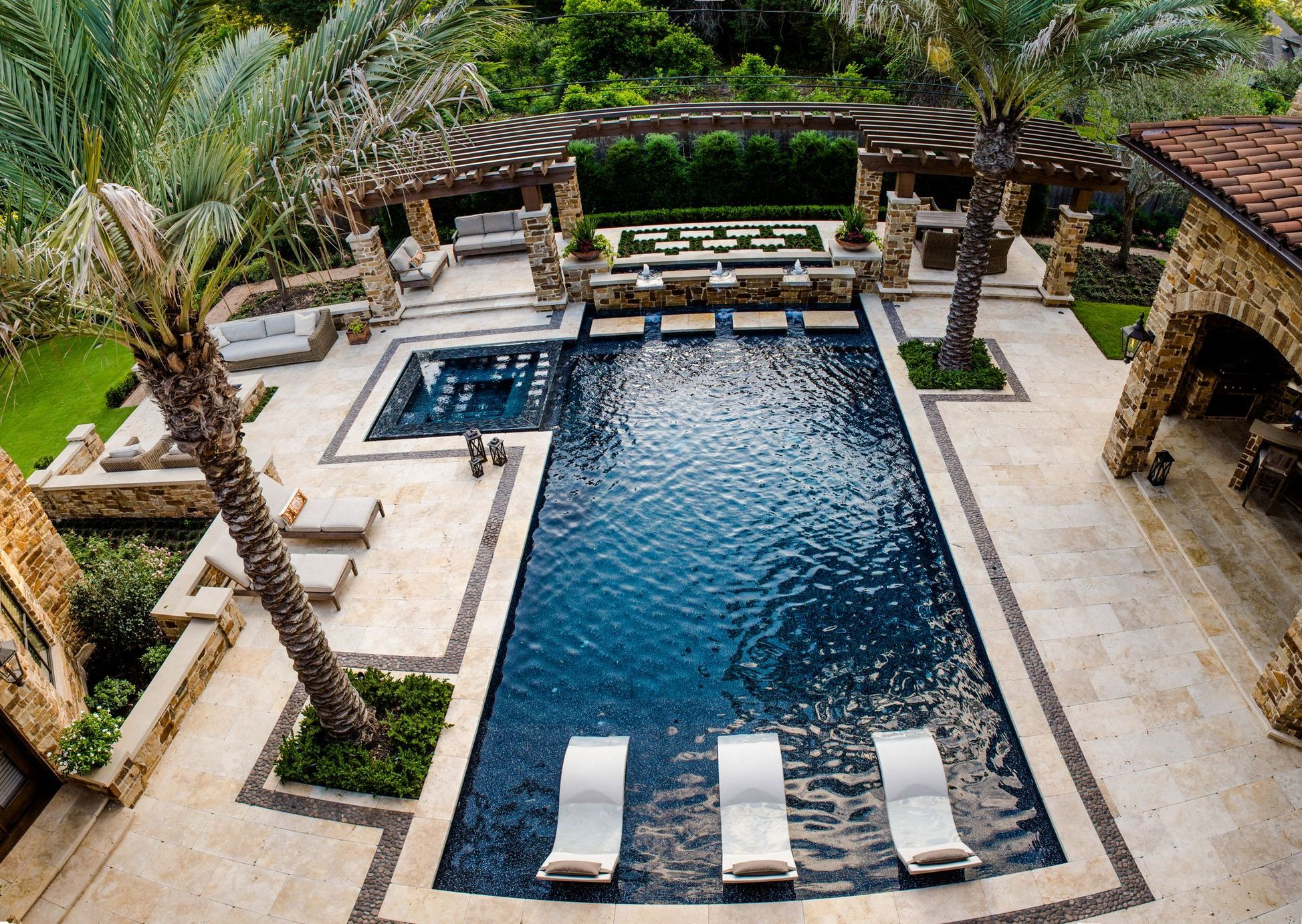 With A Couple Design Guidelines You Can Produce Your Pool The Ideal Hideaway A Pool Can Be Constructed In Virtually Modern Pool House Pool Houses Dream Pools