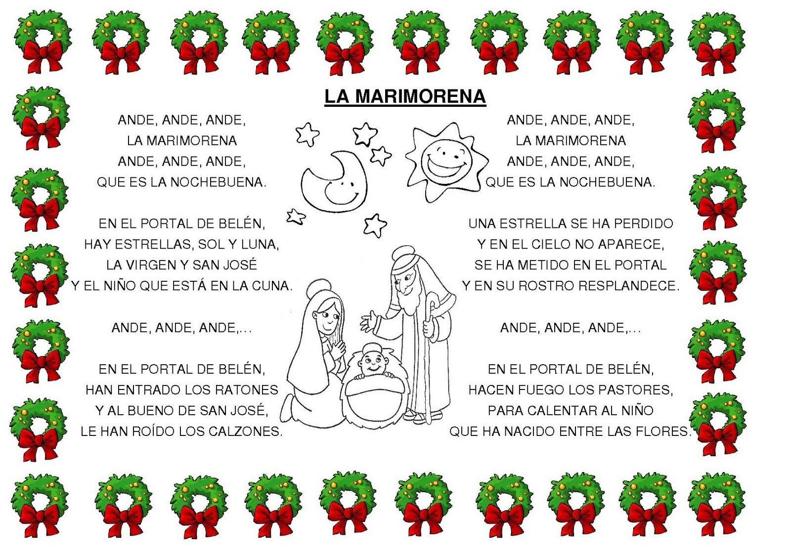 Letra De Villancicos En Ingles