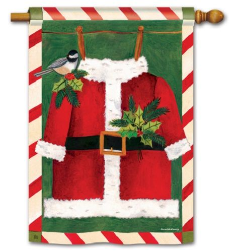 Santa Suit House Flag Christmas Flags Holiday Flags Yard Flags Christmas Garden Flag Christmas Flag Holiday Flag