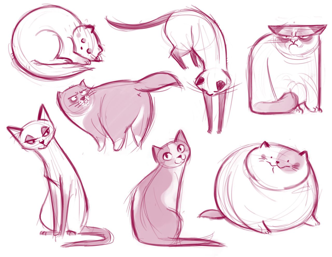 021: Cat Doodle Dump A Bunch Of Kitty Scribbles! Yeah Grumpy Cat Made