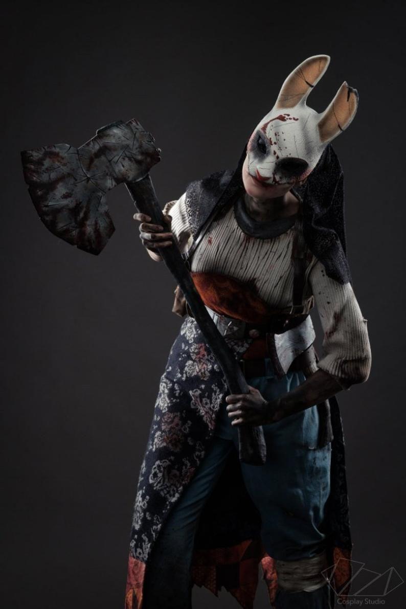 Dead By Daylight Huntress Mask Wearable Halloween Costume Cosplay Angel Halloween Costumes Huntress Cosplay Huntress