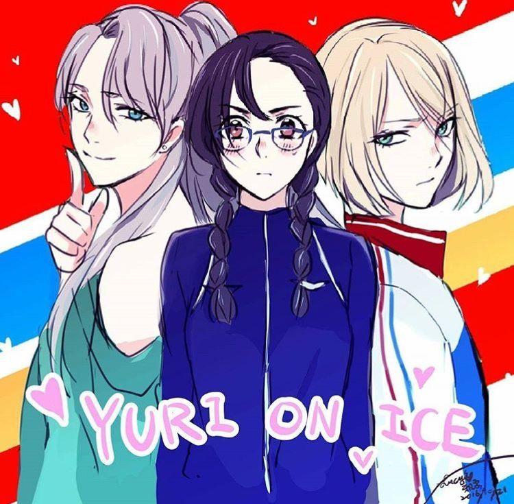 yuri!!! on ice | fem! viktor nikiforov | fem! katsuki yuuri | fem! yuri plisetsky
