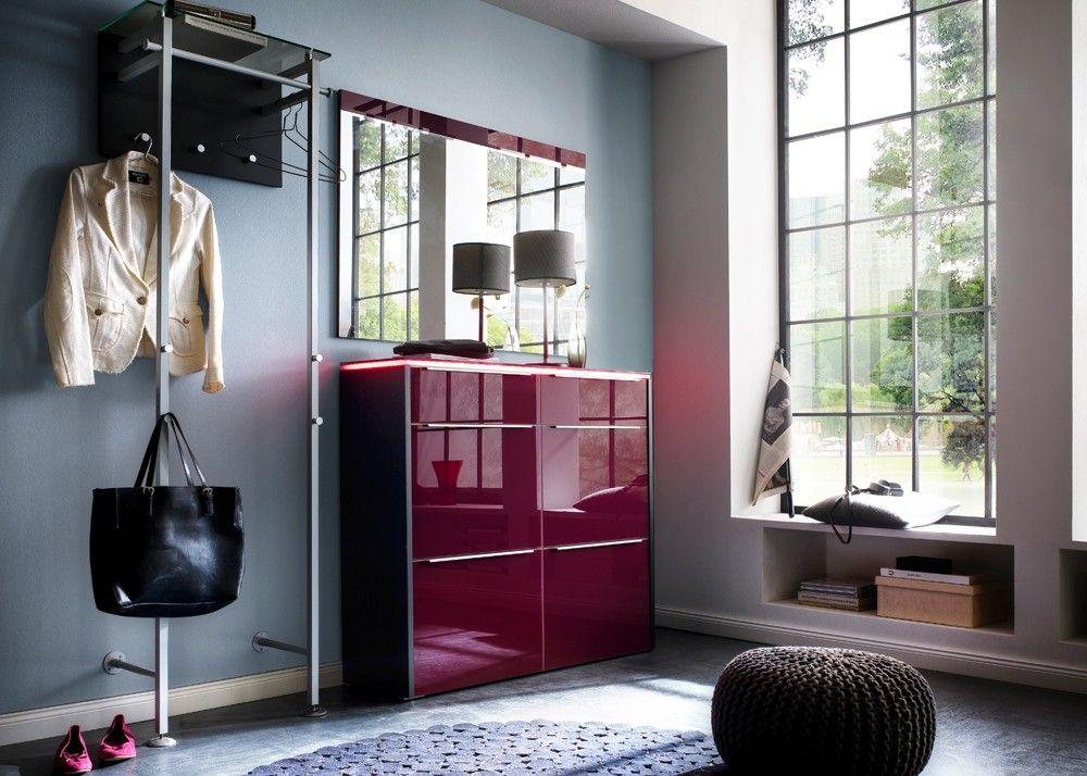 Garderobe Multi Color Gloss 15 Anthrazit Lila 9733. Buy now at https://www.moebel-wohnbar.de/garderobe-multi-color-gloss-15-anthrazit-lila-9733.html