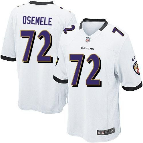 nike nfl baltimore ravens 72 kelechi osemele limited youth white road jersey sale