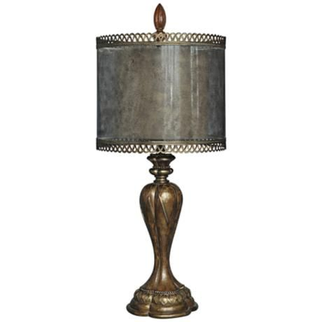 Crestview Collection Crescent Champagne Table Lamp