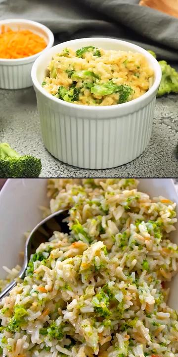 Cheesy Broccoli Rice #whitericerecipes