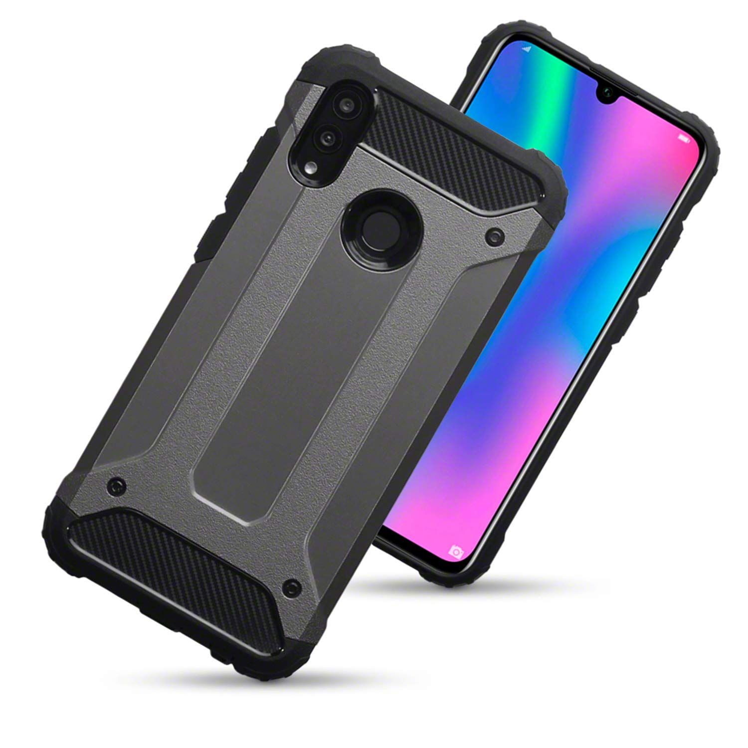 Amazon Com Olixar Armour Case Compatible With Huawei P Smart 2019 Delta Armour Protective Shock Protection Wireless Chargi Smart Case Huawei Huawei Case