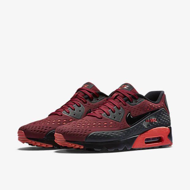 Nike Air Max 90 Ultra BR Black Red   Nike air max, Nike air