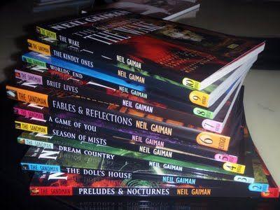 Neil Gaiman's The Sandman series graphic novel..