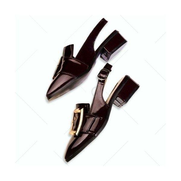 Bordeaux 38 Slingback Square Toe Pumps ($25) ❤ liked on Polyvore featuring shoes, pumps, square toe pumps, square toe shoes, slingback shoes, sling back shoes and bordeaux shoes