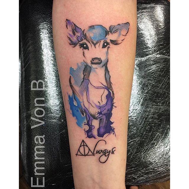 Pin By Maria Gabriela On Tattoos Harry Potter Tattoos Patronus Tattoo Fandom Tattoos