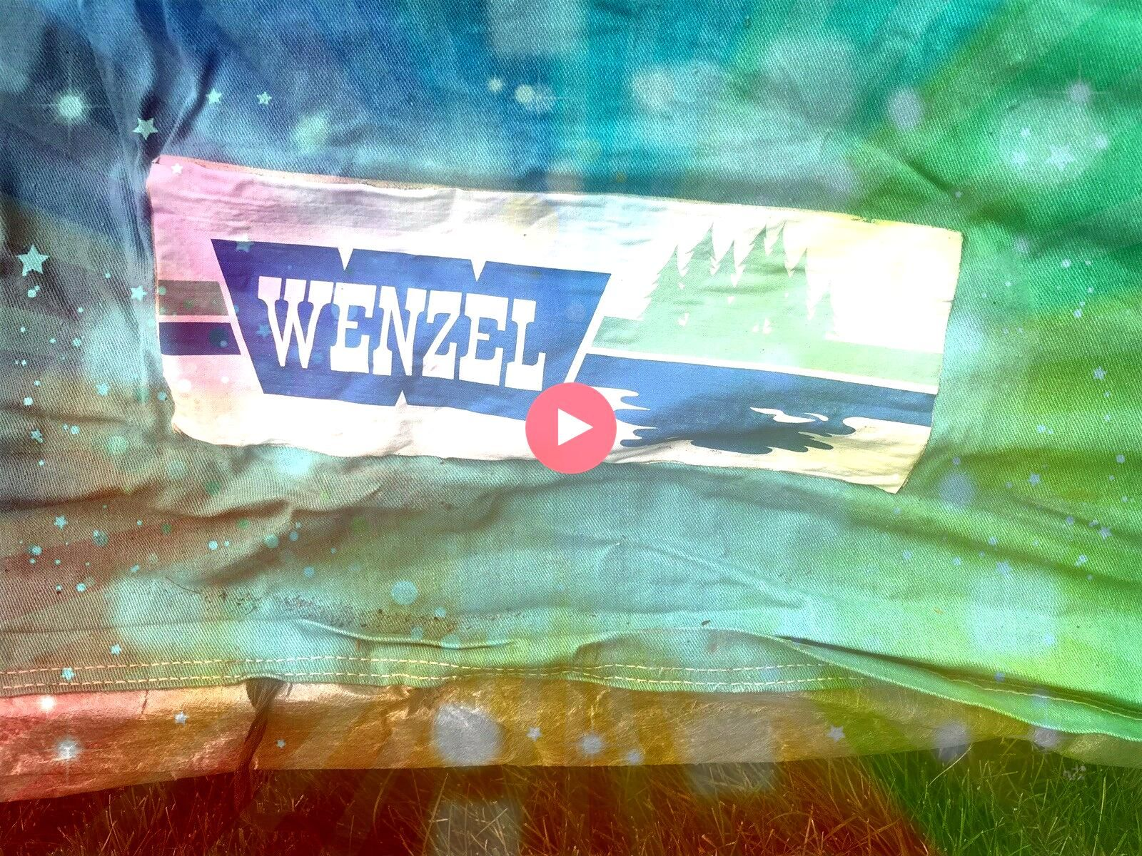 Wenzel Weekender Umbrella Tent No 02705 Canvas Original Box Missing 2 Poles 13999Vtg Wenzel Weekender Umbrella Tent No 02705 Canvas Original Box Missing 2 Poles 13999 The...