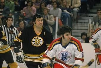 Johnny Bucyk And Rich Lemieux During The Boston Bruins First Visit To Kansas City To Play The Expansion Scouts On Dec Hockey Players Ice Hockey Players Hockey