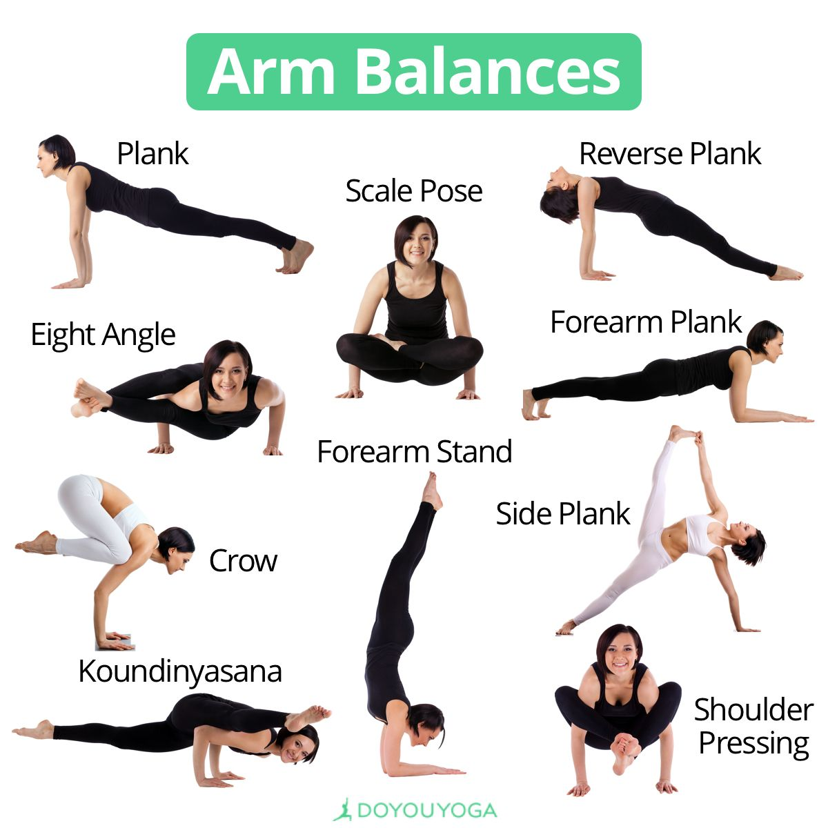 So Many Ways To Balance On Your Arms What S Your Favorite Arm Balance Yoga Balance Poses Yoga For Balance Advanced Yoga
