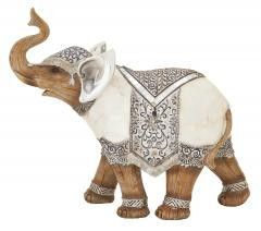 Striking polystyrene elephant