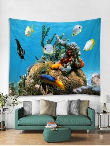 tapisserie art décoration murale motif de poisson imprimé on walls coveralls website id=39623