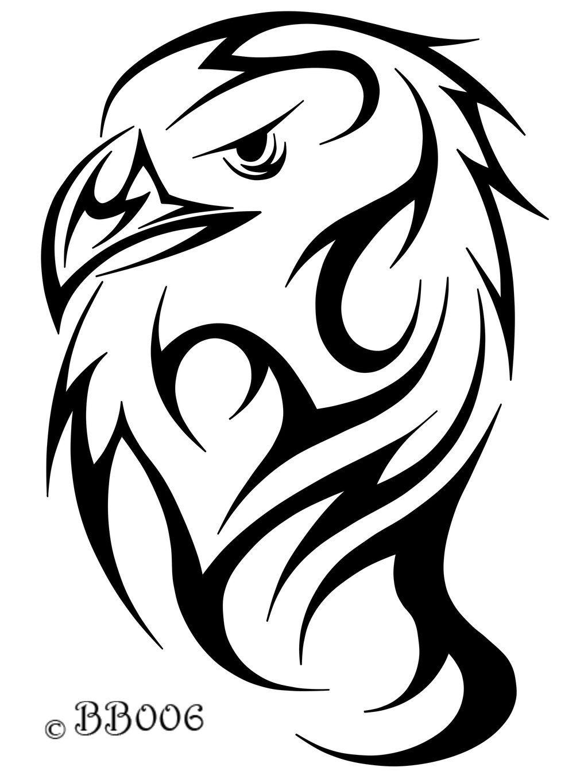 af9889507 tribal eagle head - Google Search | tatouage dessin | Tribal eagle ...