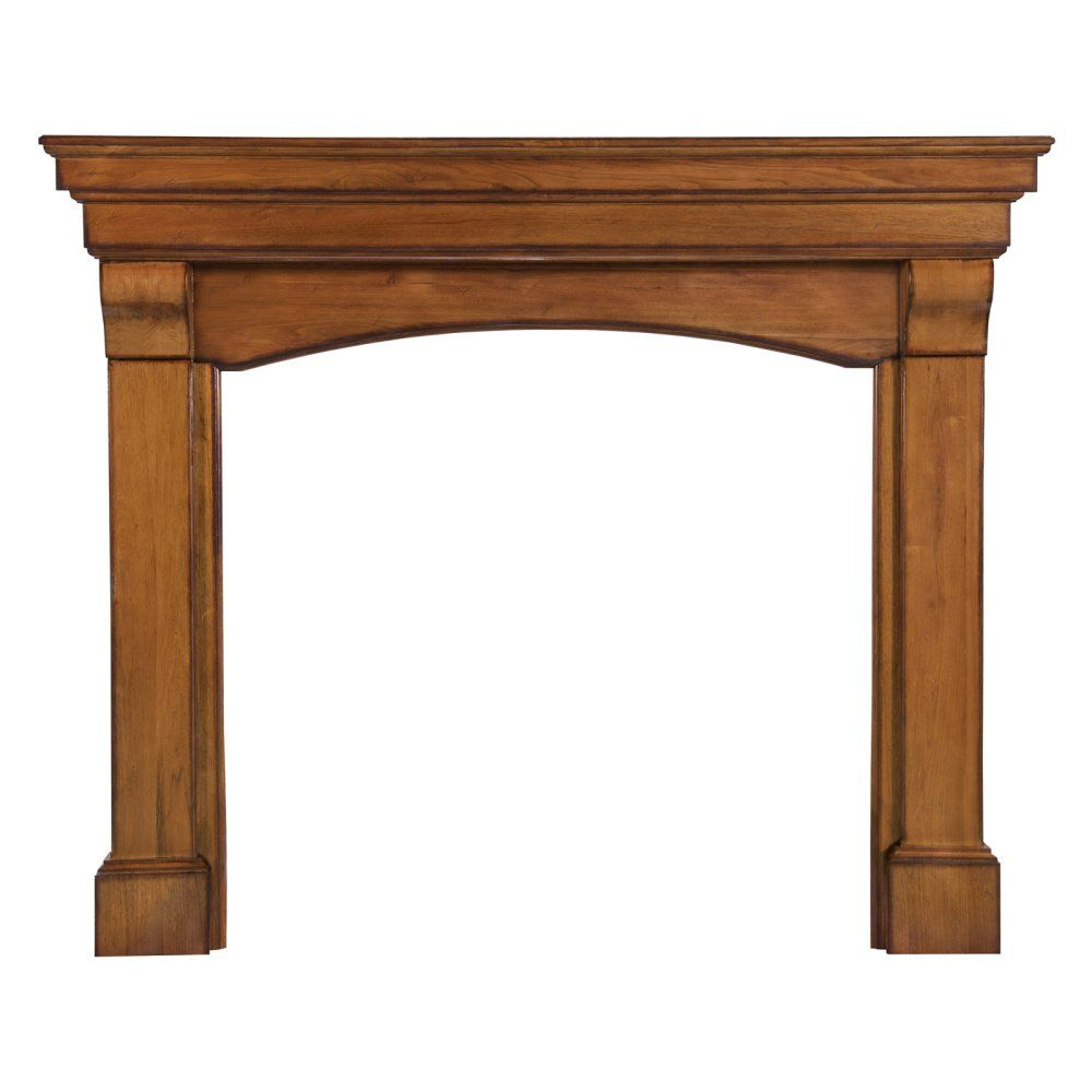 Pearl Mantels Blue Ridge Arched Fireplace Surround - Gather 'round the hearth in high style with the Pearl Mantels Blue Ridge Arched Fireplace Mantel. This traditional mantel surround features beautiful ...