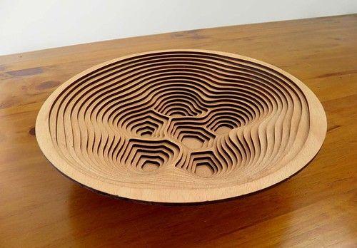 laser cut contour bowl - thomas makes stuff