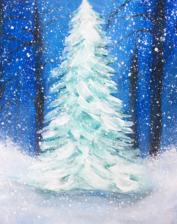 Christmas Tree Acrylic Painting Tutorial Christmas Paintings On