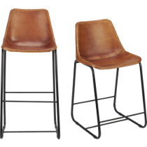 Roadhouse Leather Bar Stools From C2b.com