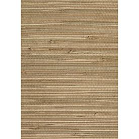 allen + roth Taupe Grasscloth Wallpaper Kitchen