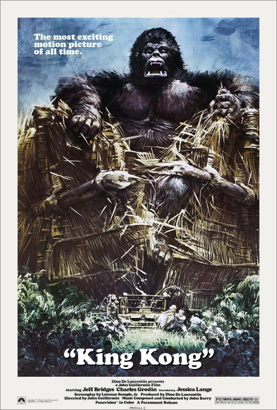 King Kong Movie Poster 1976 King Kong Classic Movie Posters