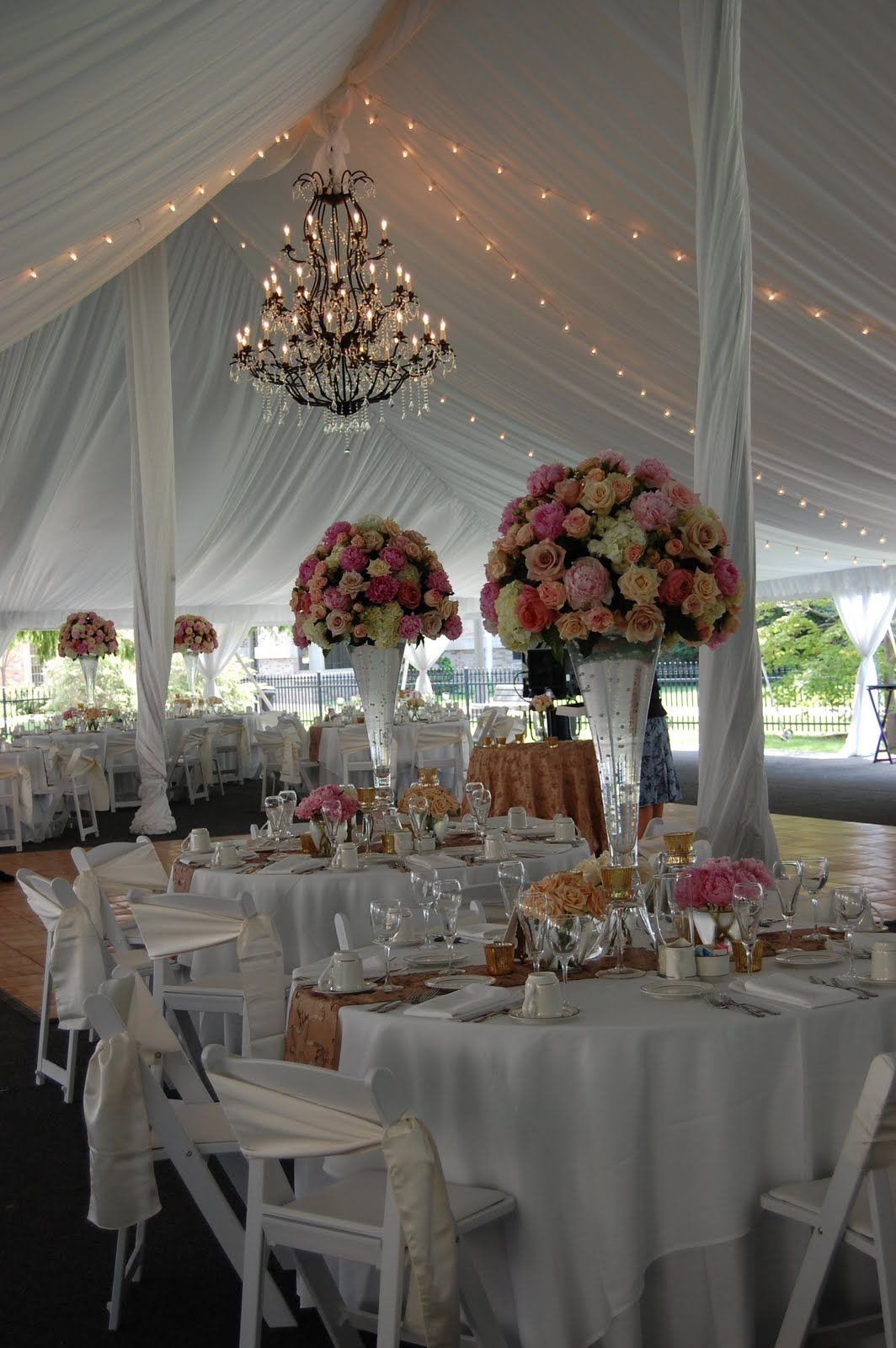 tent wedding decorations wedding tent the chandelier not so much on the 7947