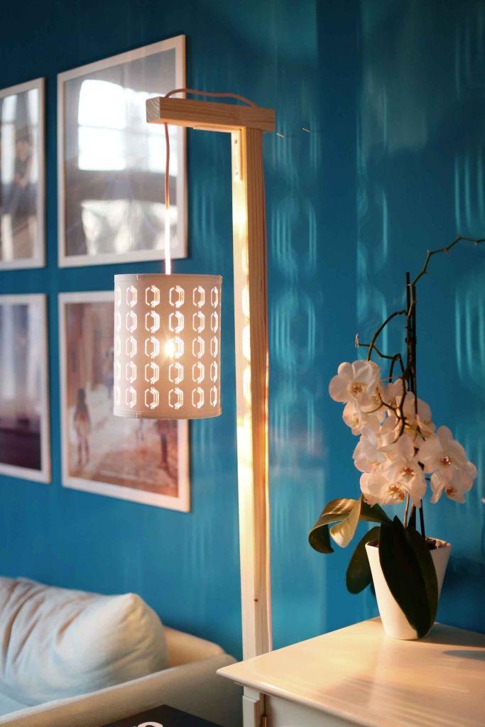 Textilkabel Le diy holzle mit textilkabel und beistelltisch diy candle l