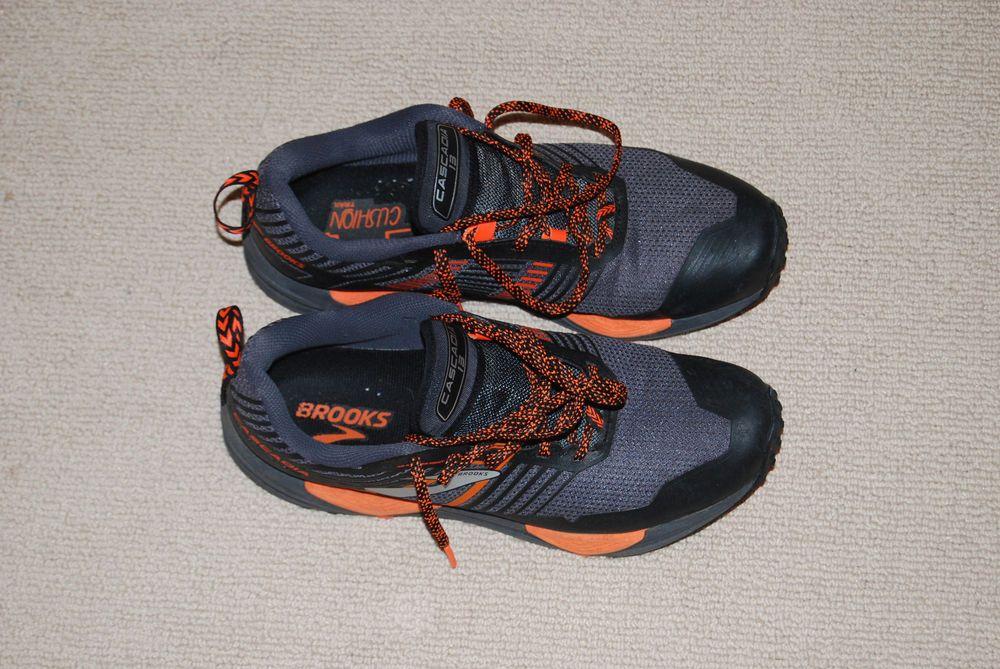2e5883758cc Brooks Cascadia 13 Mens Trail Running Shoes Wide - Grey Black Orange   fashion  clothing  shoes  accessories  mensshoes  athleticshoes (ebay link)