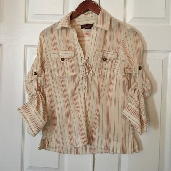 Bandolino boho shirt Can be worn several ways Bandolino Tops Blouses