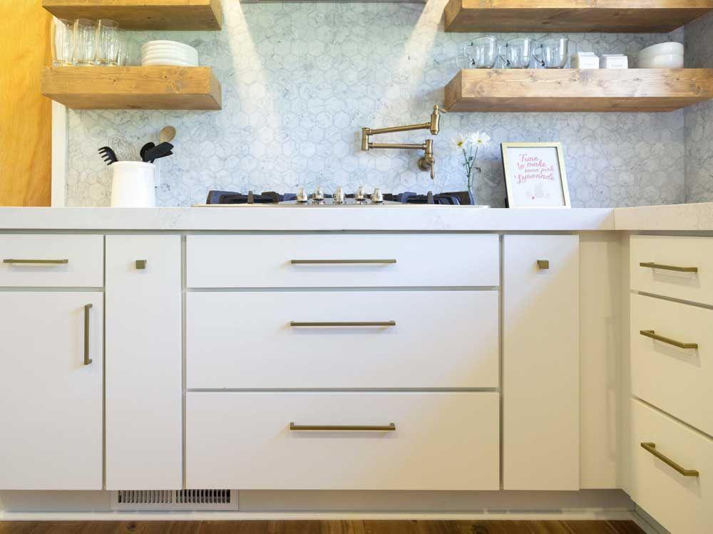 Modern White Open Kitchen With Slab Door Cabinets Kitchen Cabinet Styles Slab Door Cabinets Slab Door Kitchen