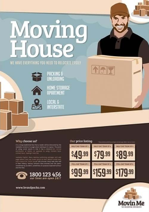 Download The House Moving Company Free Poster Template For