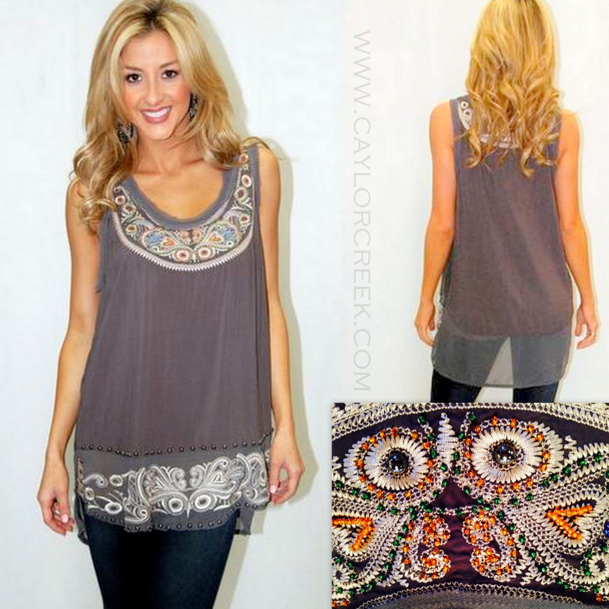 Going Platinum Tank   Caylor Creek Boutique is trendy women's fashion boutique located in Granbury Tx on the square. Great place to shop in Texas. 817-579-5444, Visit us on Facebook or Instagram also http://www.caylorcreek.com