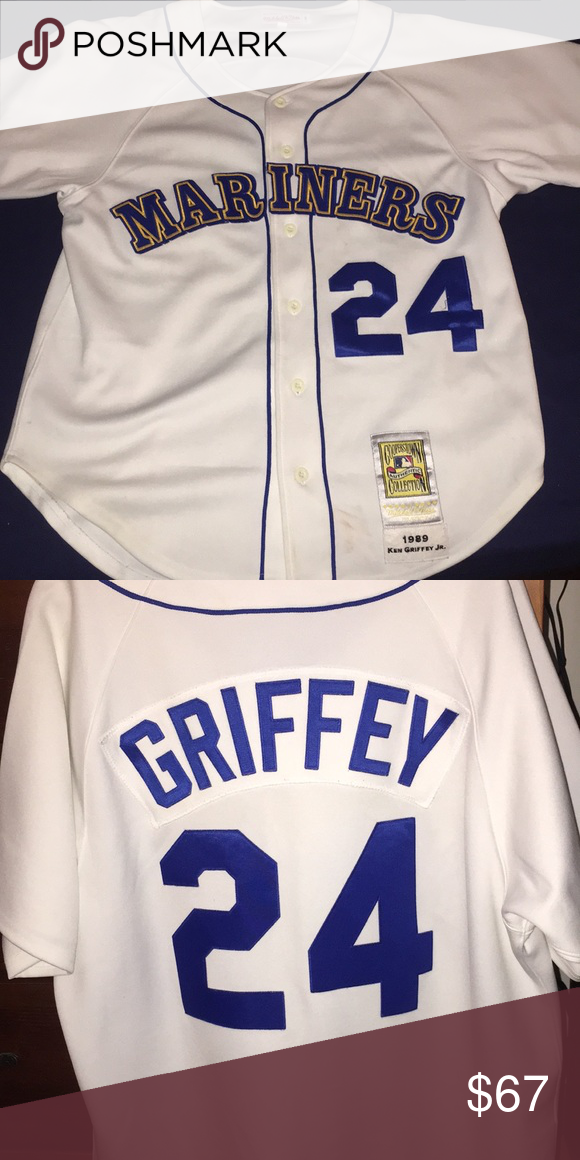 800f78621f0 Ken Griffey Jr. Seattle Mariners #24 Jersey 1989 Cooperstown Collection  Mitchell & Ness Other