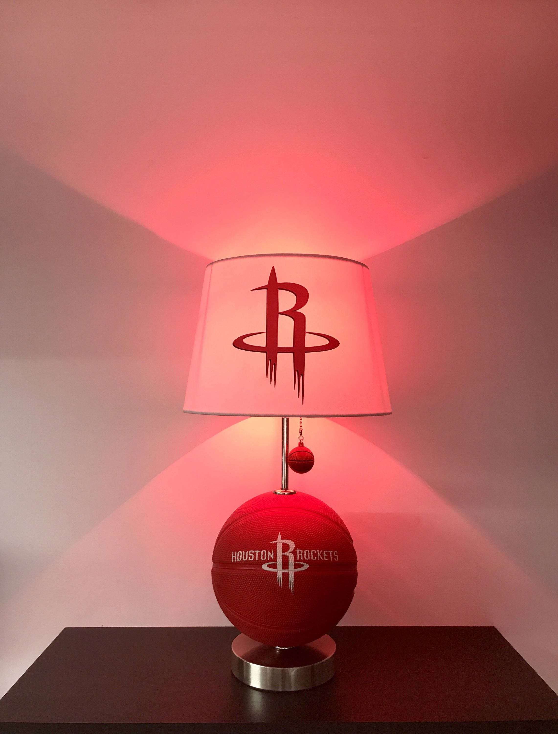 Houston Rockets Lamp, Basketball lamp, Rockets light, basketball ...