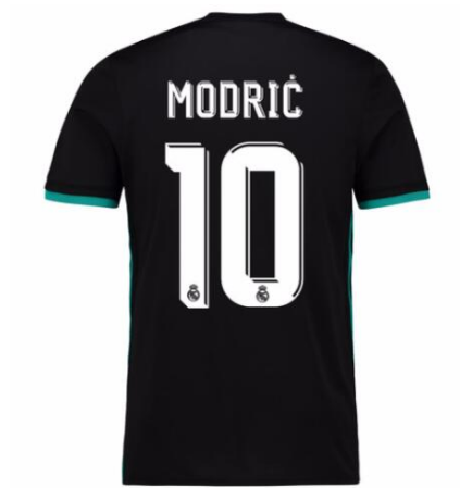 10 modric Real Madrid Away Black Climacool Fans Version Jersey 2017