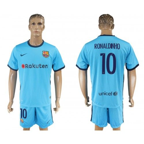 2017-18 Equipaciones de Futbol Barcelona Away 10 Ronaldinho Camisetas de  Futbol