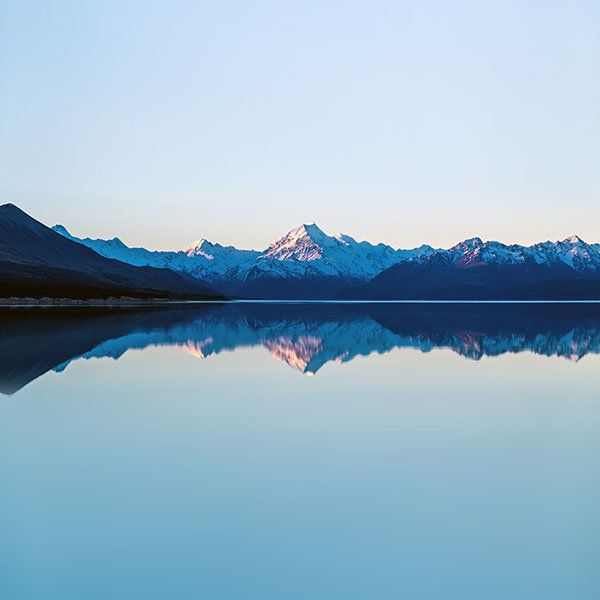 Papers.co wallpapers - mu27-reflection-lake-blue-mountain-water-river-nature - http://bit.ly/1CVK9DO - mountain, sea, sky
