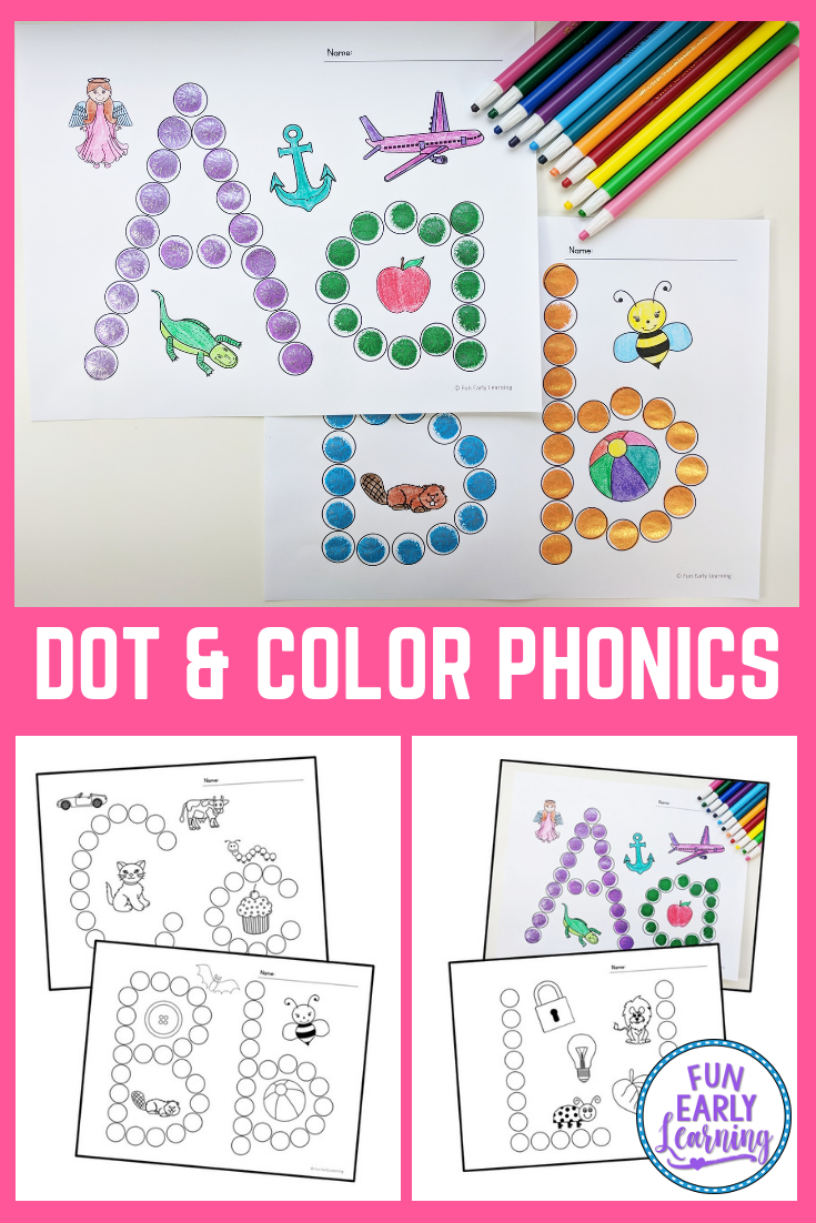 Dot And Color Letters Sounds Free Printable For Preschool Alphabet Activities Literacy Activities Preschool Letter A Crafts [ 1102 x 735 Pixel ]