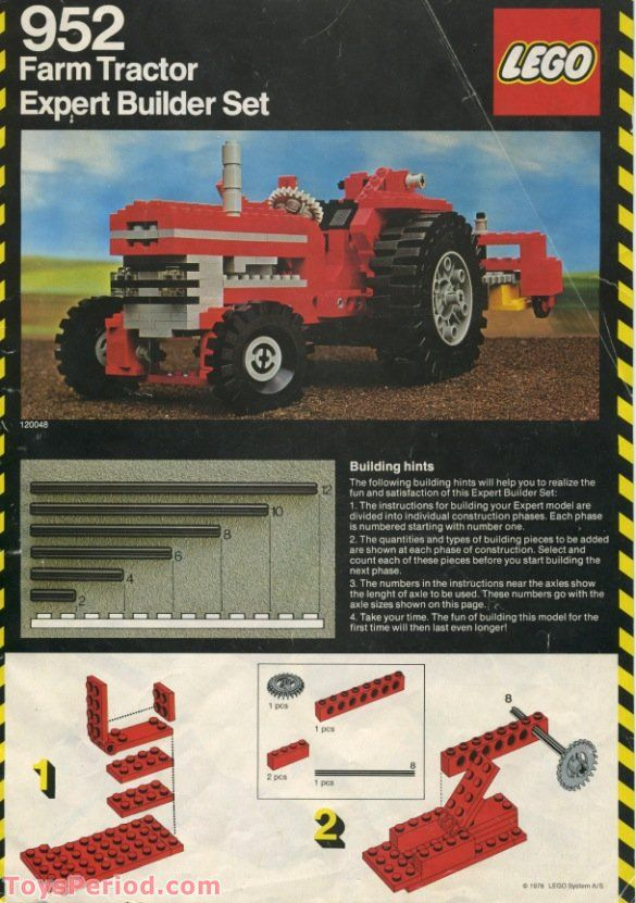 Farm Tractor Free Instruction Page 1 4 H Fun Pinterest Legos