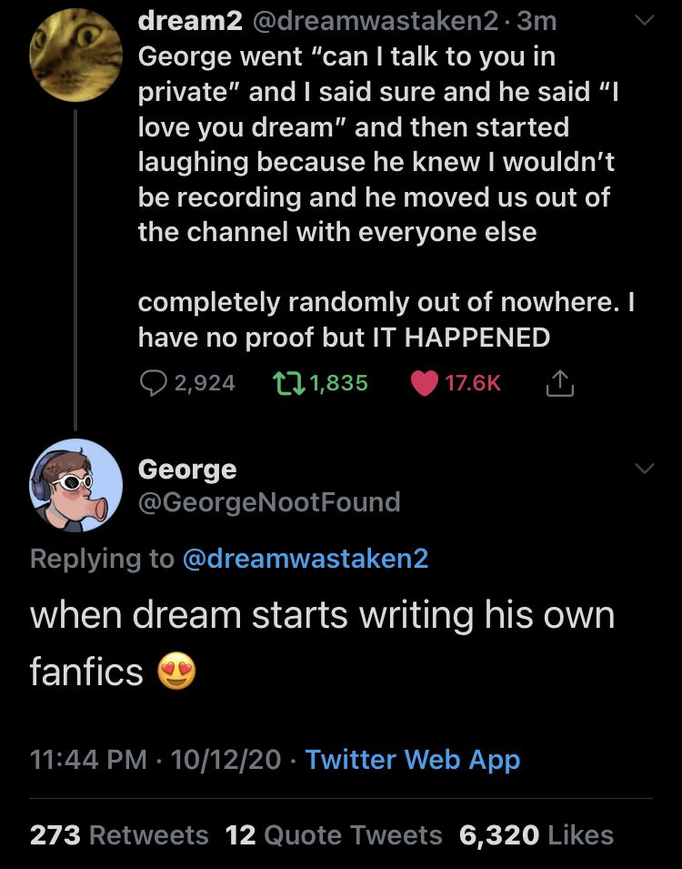Can T Believe Dream Is A Dnf Shipper My Dream Team Youtuber Tweets Dream Team