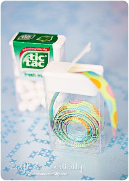 Tic-tac ribbon organizer.  Something about that makes me laugh!
