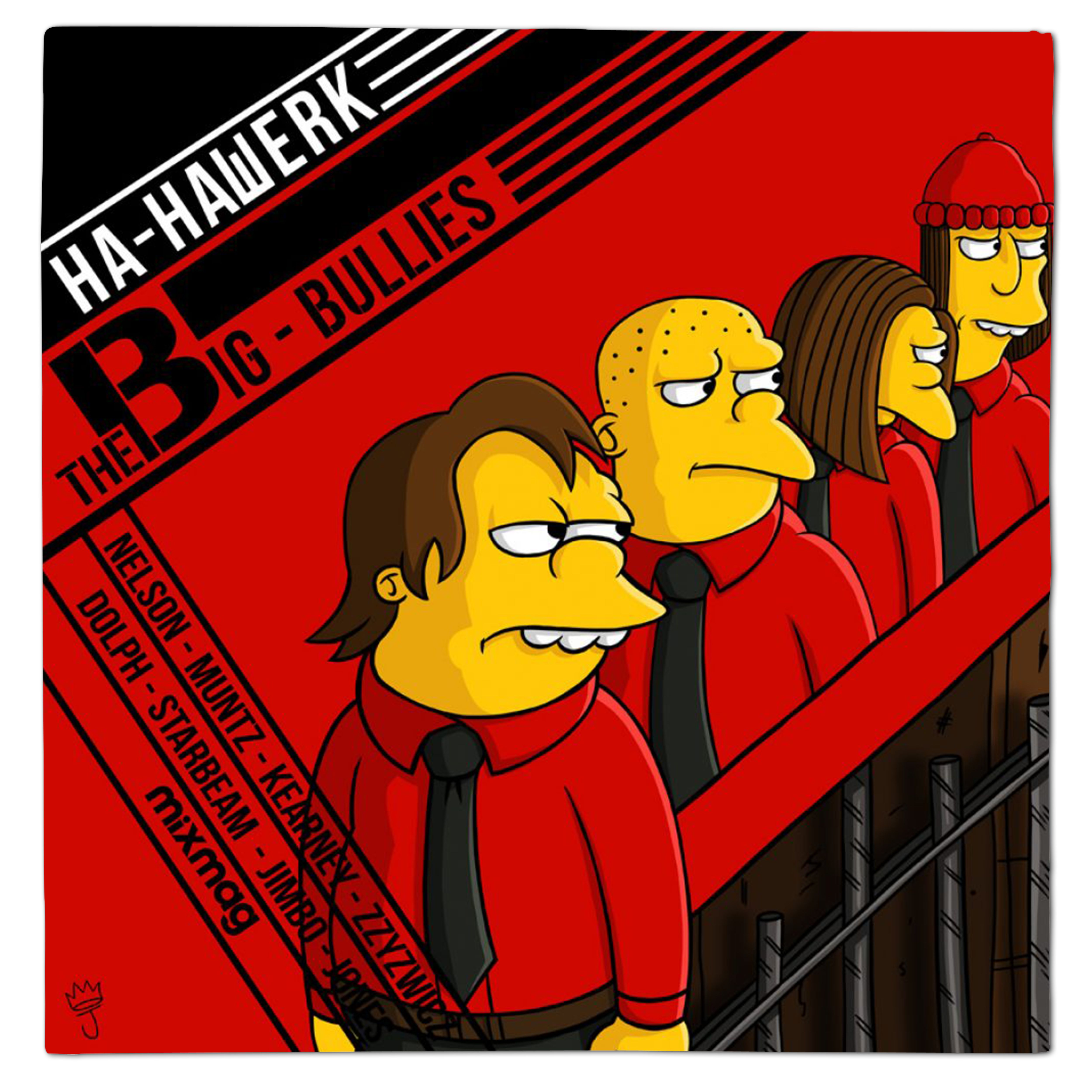 Kraftwerk Man Machine Simpsons Vinyl Mash Up Parody By
