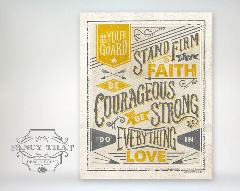 Stand Firm Designs : Vintage inspired typography cor bible verse