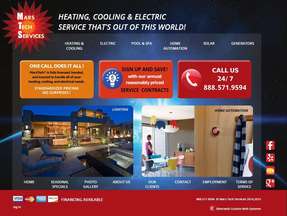 This Home Page Makes You Want To Have A Reason To Call One Call Does It All Solar Generators Spa Pool Out Of This World